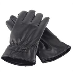 Winter PU Leather Warm Gloves Touch Screen Motorcycle Fleece Lining Mittens   fashion  clothing   9ec3923be05