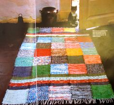 Handmade rug from an old 1970's craft book, love the boho vibe