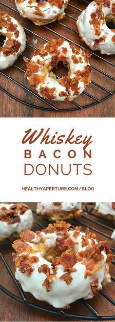 Whiskey Bacon Baked Donuts Get in the Irish spirit with whiskey flavored baked donuts, the perfect sweet treat for your party guests. - Get in the Irish spirit with whiskey flavored baked donuts, the perfect sweet treat for your party guests. Brownie Desserts, Oreo Dessert, Mini Desserts, Just Desserts, Dessert Recipes, Pistachio Dessert, Southern Desserts, Cake Recipes, Delicious Donuts