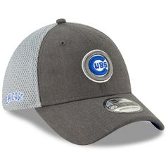 64f426428 Chicago Cubs Heathered Graphite Bullseye Neo 39Thirty Flex Hat by New Era   ChicagoCubs  Cubs