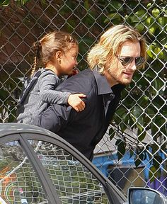 Nahla and Daddy, Gabriel Aubry