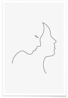 Hair en Affiche premium par Wuukasch | JUNIQE