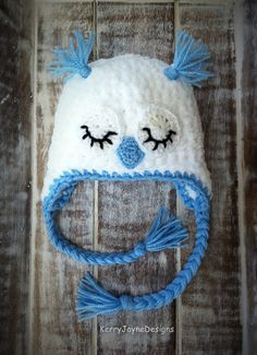 BABY OWL HAT Pattern Twit Twoo By Kerry Jayne by KerryJayneDesigns