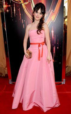 Pretty in Pink from Zooey Deschanel's Best Looks | E! Online