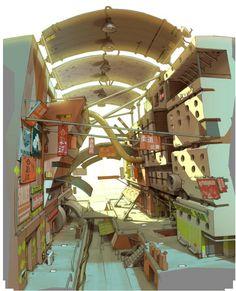 Website of artist Gray Shuko - portfolio Environment Concept, Environment Design, Bg Design, Visual Development, Animation, Environmental Art, Historical Sites, Ghibli, Game Art
