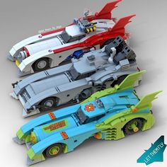Pick your favorite Batmobile! #scoobydoo #backtothefuture #ghostbusters. Credit to @let_them_fly_lego. Follow @brickinspired for more #LEGO inspiration! #brickinspired Lego Spaceship, Lego Robot, Lego Mecha, Lego Bionicle, Lego Batman, Lego Car, Legos, Lego Batmobile, Lego Dragon