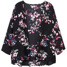Yoins Yoins Kimono ($17) ❤ liked on Polyvore featuring outerwear, kimono, jackets and tops