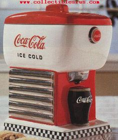 Coke Dispenser 50's Style Cookie Jar