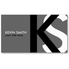 {original} Modern Monogram Business Cards