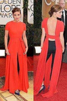 Emma Watson - Golden Globes Red Carpet 2014