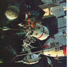 Painting by John Berkey 'Star 5' (1972) from the book Tomorrow and Beyond; Masterpieces of Science Fiction Art (1978)