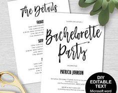 Junggesellenabschied lädt, Bachelorette Einladung, Bachelorette Party Einladung Vorlage, Bachelorette Reiseroute, DIY, bedruckbar, moderne