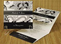 Invitaciones en blanco y negro