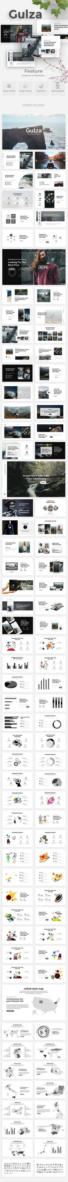 Buy Gulza Creative Powerpoint Template by bluestack on GraphicRiver. Features: Aspect Ratio no more broken images! Easy and fully editable in PowerPoint (shape color, size, position. Presentation Layout, Presentation Slides, Presentation Templates, Graphisches Design, Graphic Design, Slide Template, Broken Images, Creative Powerpoint Templates, Creative Visualization