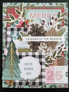 Together for Christmas by Pink Paislee.    Design by Debra Lord for Scrappin' in the City. Peace And Love, Lord, Merry, Seasons, City, Frame, Christmas, Design, Decor