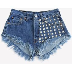 Half Studded Front Vintage Levis Shorts ❤ liked on Polyvore featuring shorts, bottoms, short, pants, short shorts, vintage shorts, studded shorts, levi shorts and vintage studded shorts