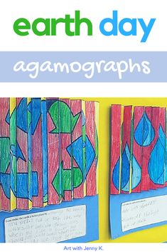 These fun to make agamographs provide for an engaging and memorable Earth Day activity for kids! #earthdayactivites #earthdayactivitiesforkids #agamographs #artwithjennyk