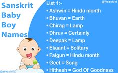 I hope that our list of best Sanskrit Baby Boys Names and Vedic Names For Baby Boy will help you finding a proper name for your little one. Sanskrit Baby Boy Names, Sanskrit Names, Krishna Names, Baby Month By Month, Baby Names, Baby Boys, Songs, Boy Babies, Little Boys