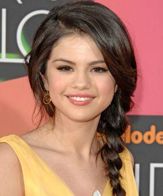 Selena Gomez Hairstyle - Updo Long Curly Casual -