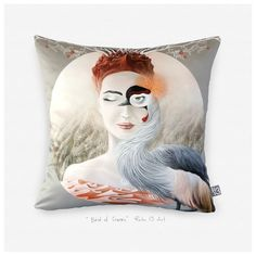 Bird of Cranes & Satin glossy luxurious artistic throw pillow cover & Modern pillow case & artistic cushion cover. Modern Pillow Cases, Modern Pillows, Crane Bird, Vash, Macbook Decal, Cool Stickers, Bored Panda, Beautiful Birds, Vinyl Decals