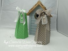 Pinched Star Box   - Gift Bag Punch Board