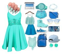 """blue style"" by redgrace1 ❤ liked on Polyvore featuring Ally Fashion, Yumi, Converse, Valentino, Marc by Marc Jacobs, GUESS, Rip Curl, Cartier, Ippolita and Clinique"