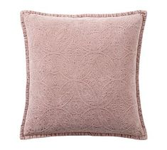 A Jacquard weave gives this silky-soft pillow cover a distinctive textural richness. It's an elegant and cozy layer on a sofa or bed. Velvet Pillows, Soft Pillows, Decorative Pillows, Pottery Barn, Pillow Inserts, Pillow Covers, Blush Cushions, Knit Pillow, Velvet Material