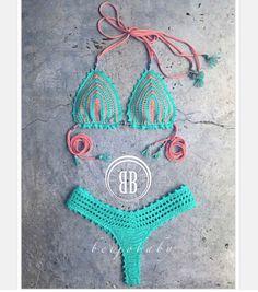 Coral reef bikini by beijobaby on Etsy
