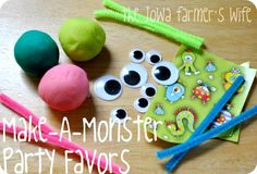The Iowa Farmer's Wife: Make A Monster Playdough Party Favors