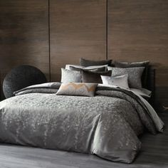 The Tallulah Collection by Kevin O'Brien Falling Leaves Duvet Cover - BedBathandBeyond.com