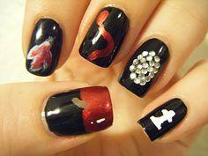No Nekkid Nails - My Twilight Themed Mani. So Twi-hard! :)