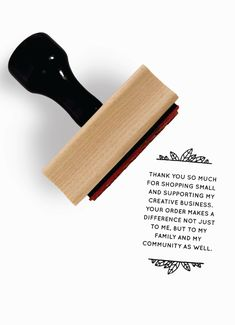 Creativepreneur Thank You Note - Rubber Stamp for Small Creative Business by Creatiate
