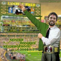 Funny Fantasy Football Logo of Green Bay Packers' Aaron Rodgers