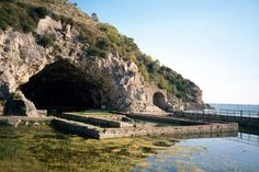 Villa of Tiberius at Sperlonga -- inside the grotto Tiberius had a magnificent seating area filled with sculptures.