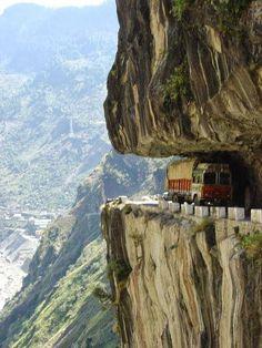The Karakoram Highway,  China to Pakistan