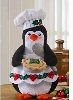3D Chef Penguin - Christmas Felt Applique Kit