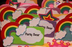 Custom made Care Bear themed name plates!