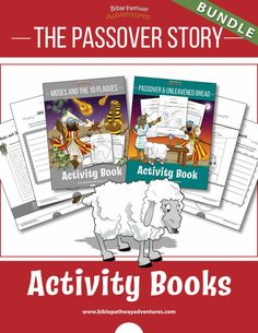 Moses and the Ten Plagues printable Bible Activity Book for Kids. Learn all about the Ten Plagues, the Passover, and Unleavened Bread. Drawing Activities, Comprehension Activities, Bible Activities, Bible Games, Preschool Bible, Toddler Activities, Passover Story, Passover Meal, Exodus Bible