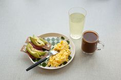 tasty simple breakfast.