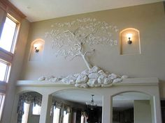 What to Know About Creating Drywall Art :: Building Moxie Like many other types of home remodeling projects, drywall art is something that takes time and patience to get right. The Basic Steps . Plaster Sculpture, Plaster Art, Plaster Walls, Wall Sculptures, Sculpture Art, Mural Wall Art, Tree Wall Art, Pop Art Bilder, Drywall Mud