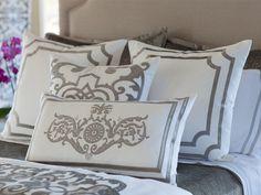 Soho White Linen with Silver Velvet Pillows