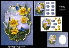Spring Daffodils on Craftsuprint - Add To Basket!