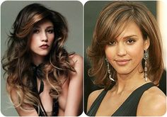 black and honey blonde long hair styles with side bangs for face-framing looks