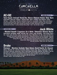 Coachella 2016 poster and lineup