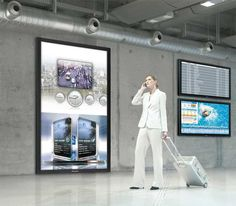 Airports: Impressive Digital Signage for Airport/Travel (by Panasonic) Digital Kiosk, Digital Signage, Electronic Gifts For Men, Touch Screen Technology, Experiential Marketing, Marketing Channel, Wayfinding Signage, Marketing Techniques, Tech Gifts