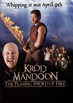 Krod Mandoon and the Flaming Sword of Fire 11x17 TV Poster (2009)