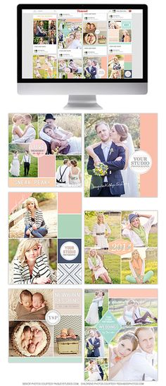 Social Media Boards! – Professional Photoshop Templates for Photographers. Photography Design Templates – Hazy Skies Designs