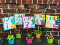 Table signs for classroom. Cactus or succulent theme decor by @teachmemrs.z