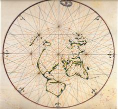 The world as mapped by the Portuguese in 1514, published by João de Lisbon in 1560.