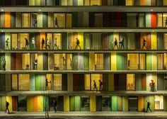 Buildings In Use: EPFL Quartier Nord, Switzerland, by Richter Dahl Rocha & Associés, photographed by Jeremie Souteyrat